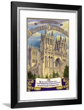 National Cathedral - Washington, Dc, c.2009-Lantern Press-Framed Art Print