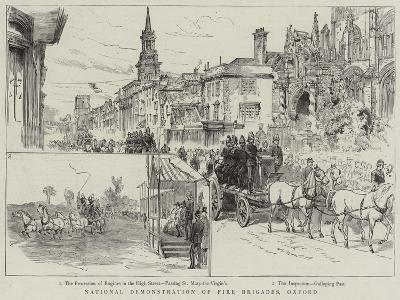 National Demonstration of Fire Brigades, Oxford--Giclee Print