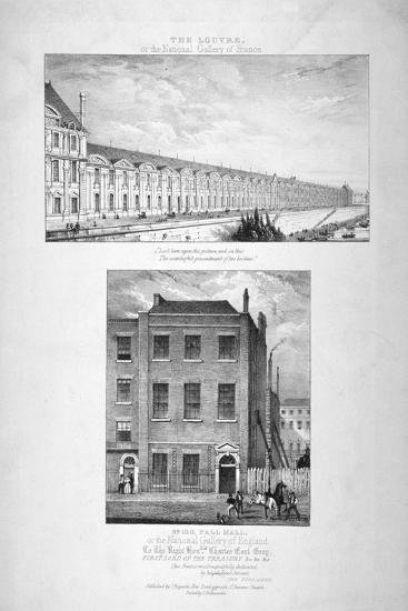 National Gallery, 100 Pall Mall, Westminster, London, C1825--Giclee Print