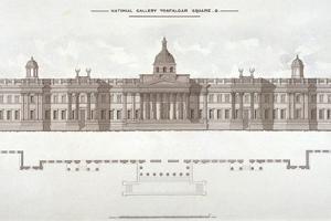 National Gallery, Trafalgar Square, Westminster, London, C1838
