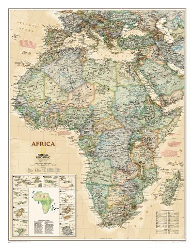 National Geographic Africa Map, Executive Style--Poster