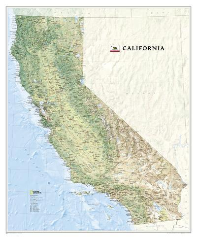 National Geographic - California Map Laminated Poster-National Geographic Maps-Laminated Poster