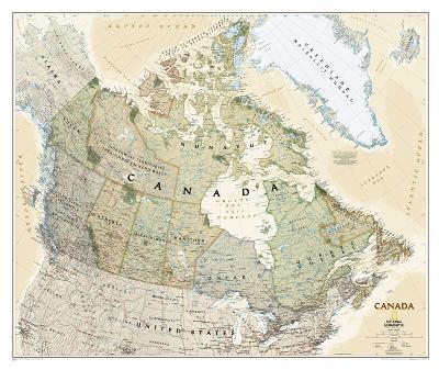 National Geographic - Canada Executive Map Laminated Poster-National Geographic-Laminated Poster