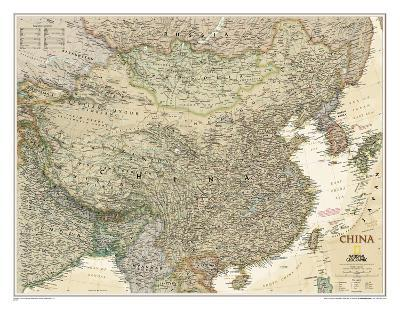 National Geographic - China Executive Map Laminated Poster-National Geographic-Laminated Poster