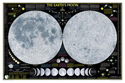 National Geographic - Earth's Moon Map Laminated Poster-National Geographic-Laminated Poster