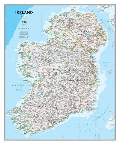 National Geographic - Ireland Classic Map Laminated Poster-National Geographic-Laminated Poster