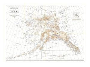 1904 Alaska Map by National Geographic Maps