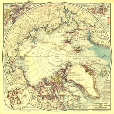 1907 North Pole Regions Map
