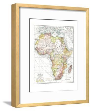 1909 Africa Map