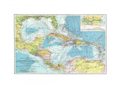 1913 Central America, Cuba, Porto Rico, and the Islands of the Caribbean Sea by National Geographic Maps