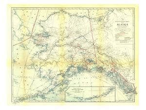 1914 Alaska Map by National Geographic Maps