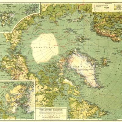 1925 Arctic Regions Map