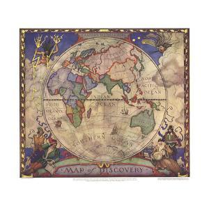 World maps artwork for sale posters and prints at art 1928 map of discovery eastern hemispherenational geographic maps gumiabroncs Images