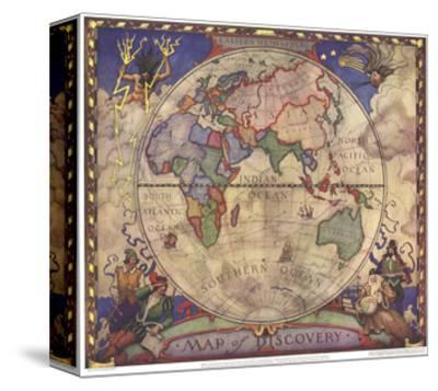 1928 Map of Discovery, Eastern Hemisphere
