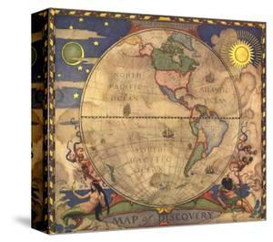 World maps canvas artwork for sale posters and prints at art 1929 map of discovery western hemisphere by national geographic maps gumiabroncs Images