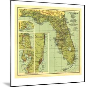 1930 Florida Map by National Geographic Maps