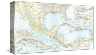 1939 Mexico, Central America and the West Indies Map