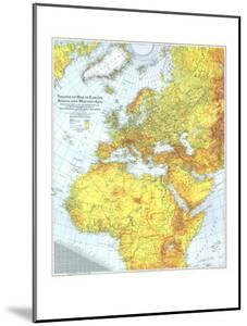 1942 Theater of War in Europe, Africa and Western Asia Map by National Geographic Maps
