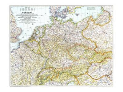 1944 Germany and Its Approaches 1938-1939 Map by National Geographic Maps