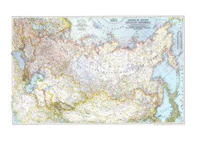 1944 Union of Soviet Socialist Republics 1938-1944 Map
