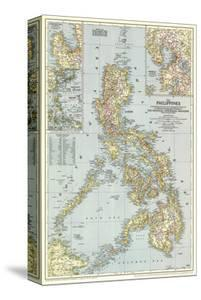 1945 Philippines Map by National Geographic Maps