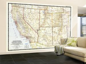 1948 Southwestern United States Map by National Geographic Maps
