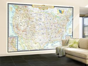 1953 Historical Map of the United States by National Geographic Maps