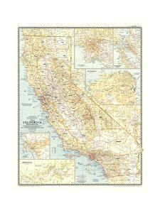 1954 California by National Geographic Maps