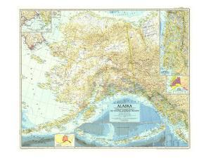 1956 Alaska Map by National Geographic Maps
