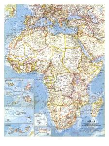 1960 Africa Map by National Geographic Maps