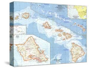 Maps of hawaii artwork for sale posters and prints at art 1960 hawaii mapnational geographic maps gumiabroncs Gallery