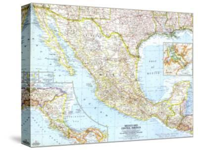 1961 Mexico and Central America Map
