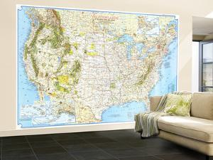 1966 Vacationlands of the United States and Canada Map by National Geographic Maps
