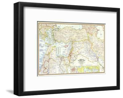 1967 Lands of the Bible Today Map