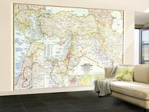 1967 Lands of the Bible Today Map by National Geographic Maps