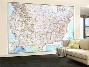 1968 United States Map by National Geographic Maps