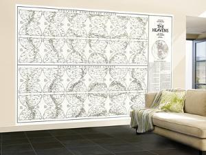 1970 Heavens Star Chart by National Geographic Maps