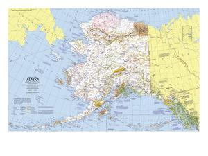 1975 Close-up USA, Alaska Map by National Geographic Maps