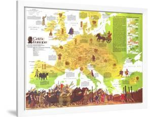 1977 Celtic Europe Map by National Geographic Maps