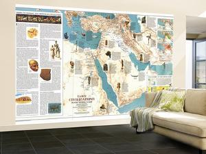 1978 Early Civilizations in the Middle East Map by National Geographic Maps