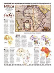 1980 Africa, Its Political Development Map by National Geographic Maps