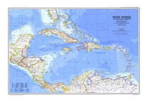 Beautiful Maps of The Caribbean artwork for sale, Posters and Prints ...