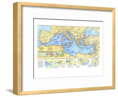 1982 Historic Mediterranean, 800 BC to AD 1500 Map