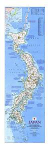 1984 Japan Map by National Geographic Maps