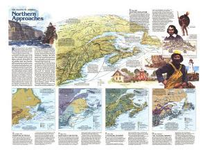 1985 The Making of America, Northern Approaches Theme by National Geographic Maps