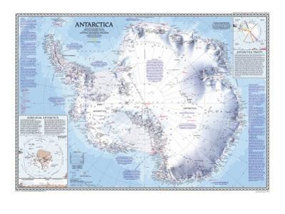 1987 Antarctica Map by National Geographic Maps