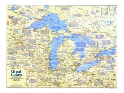 1987 Great Lakes Map Side 1 by National Geographic Maps