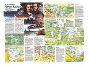 1987 Great Lakes Map Side 2 by National Geographic Maps