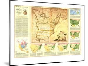 1987 Territorial Growth of the United States Map by National Geographic Maps
