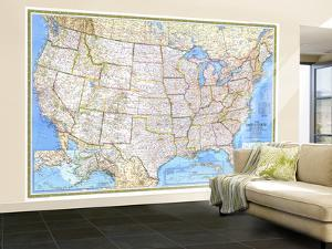 1987 United States Map by National Geographic Maps